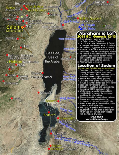 sodom and gomorrah map abram lot and the location of sodom 15 possible