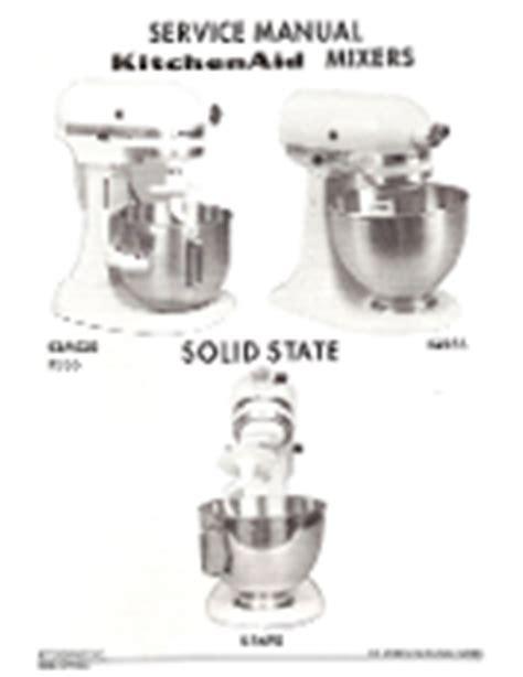 Kitchenaid K5ss Ksm90 Service Repair Manual Download