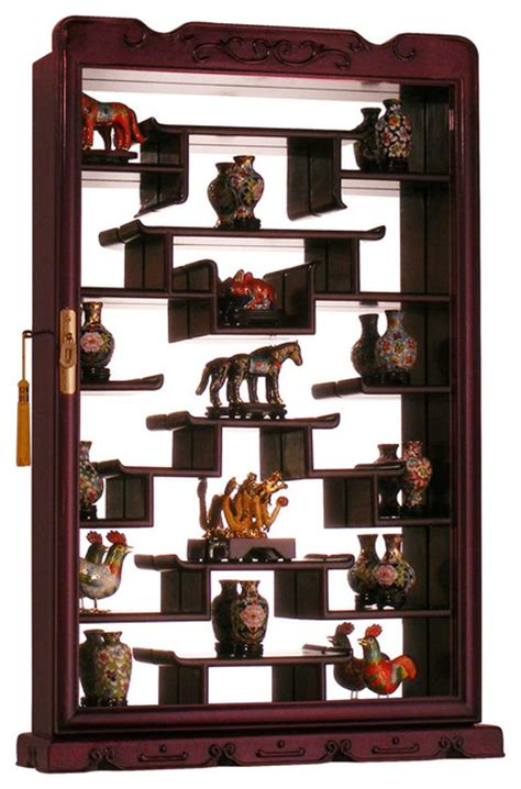 home wall display rosewood wall curio display cabinet asian home decor