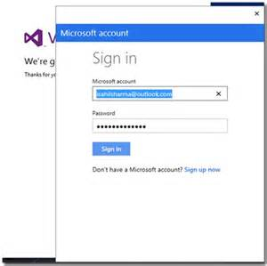 Microsoft Sign In Visual Studio Community 2013 How To Install And Set Up