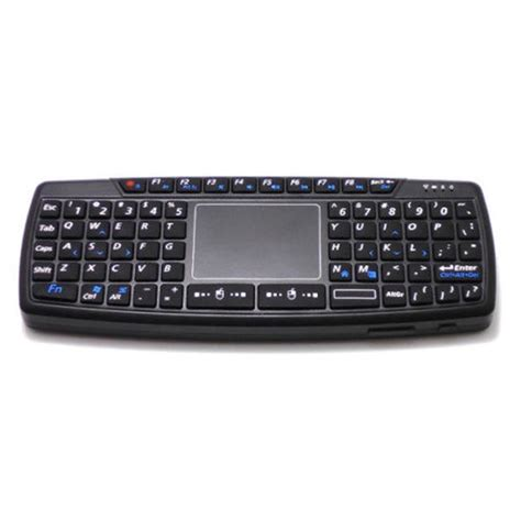 Keyboard Genggam Wireless Dengan Touch Pad V6 Black 1 keyboard wireless mini dengan touch pad kb168 black jakartanotebook