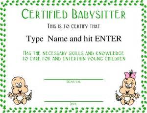 Certification Letter For Babysitter Search Results For Free Babysitter Certificate Calendar 2015