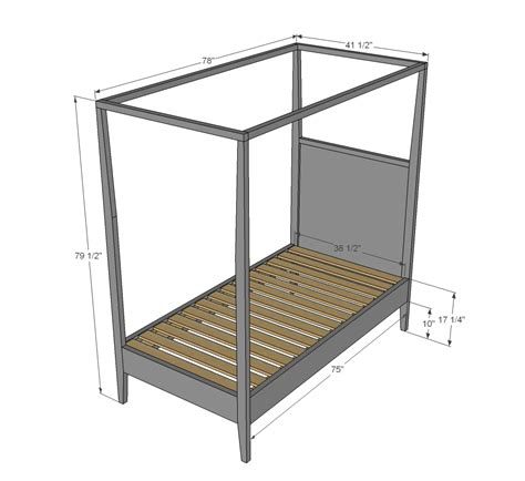 canopy bed plans ana white hannah canopy bed diy projects
