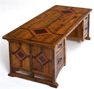 Rustic desk reclaimed wood office furniture unique custom