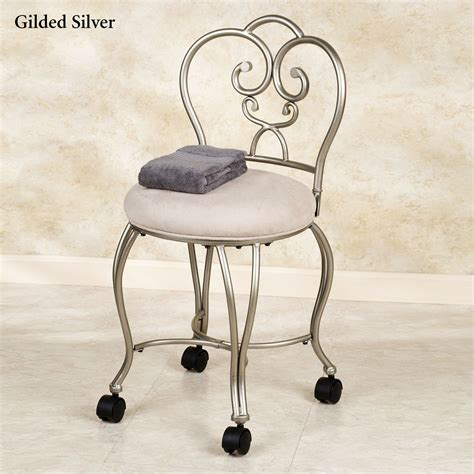 chair for bathroom vanity lecia vanity chair