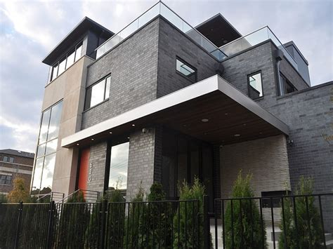 modern brick house modern house stucco modern house