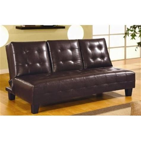 Leather Futon With Cup Holders by Leather Sofa Futon Sofa Bed With Cup Holders In Black
