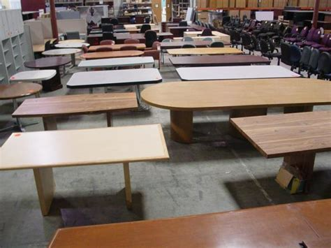 used tables hoppers office furniture used conference tables