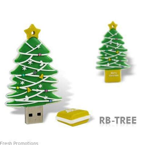 microware designer fancy christmas tree shape 4gb pen drive