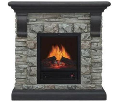 40 quot electric fireplace heater polyfiber faux and