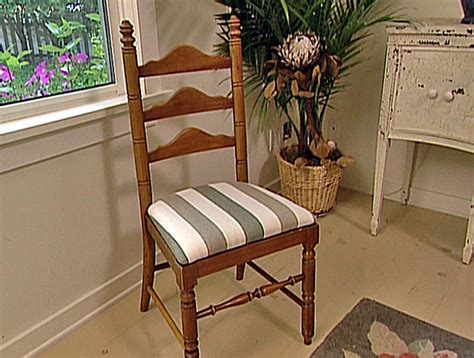 How To Reupholster A Dining Chair Seat How To Reupholster A Seat Pad How Tos Diy