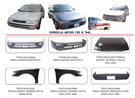 Cover Mobil Indoor Vios Corolla Altis Baleno Civic Bemper Corolla Ae100 1992 1994 Auto Part Mobil