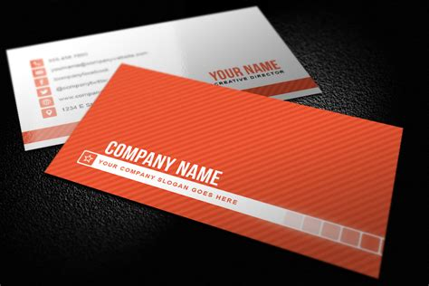 Simple Business Cards Templates simple striped business card template design panoply