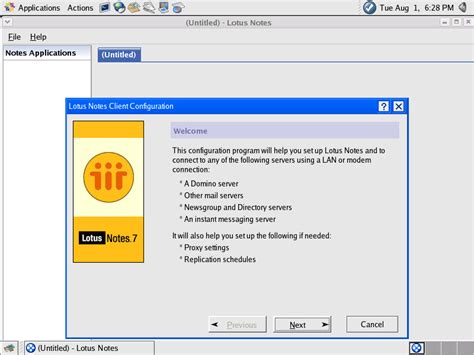 lotus notes client installing the lotus notes 7 01 linux client