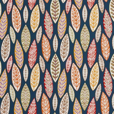 Large Print Upholstery Fabric by B0510c Multi Colored Large Leaves Print Upholstery Fabric