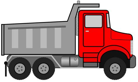 Dump Truck Clipart Black And White   Clipart Panda   Free Clipart Images