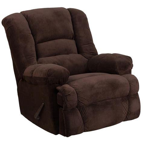 flash furniture contemporary dynasty chocolate microfiber rocker recliner wm  home depot