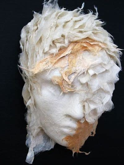 Handmade Paper Sculpture - diane hebert uses handmade paper for sculpture in