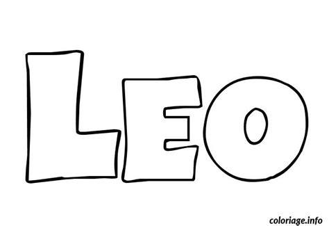 Coloriage Leo Dessin