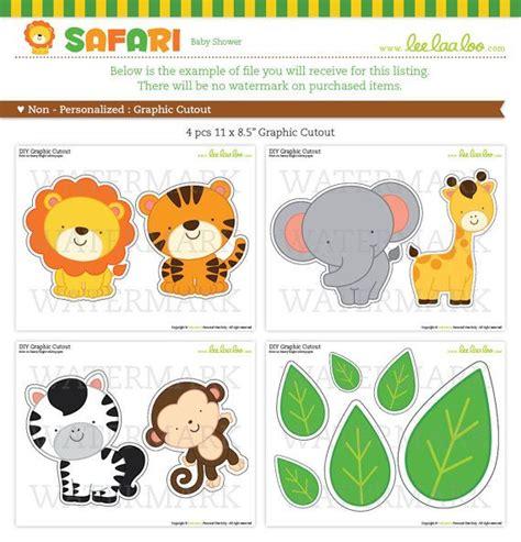 jungle animal templates safari baby shower graphic cutouts nonpersonalized by