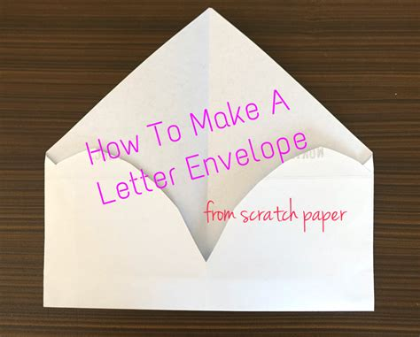 how to make a letter envelope diy letter envelope the blog of light ong