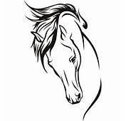 Details About Horses Head Wall Art Stickers Decal Transfers