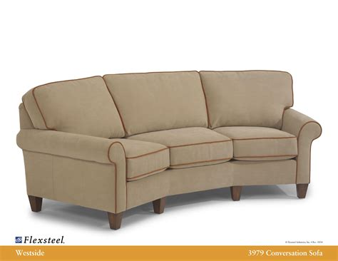 conversation sofa flexsteel leather 3979 westside conversation sofa