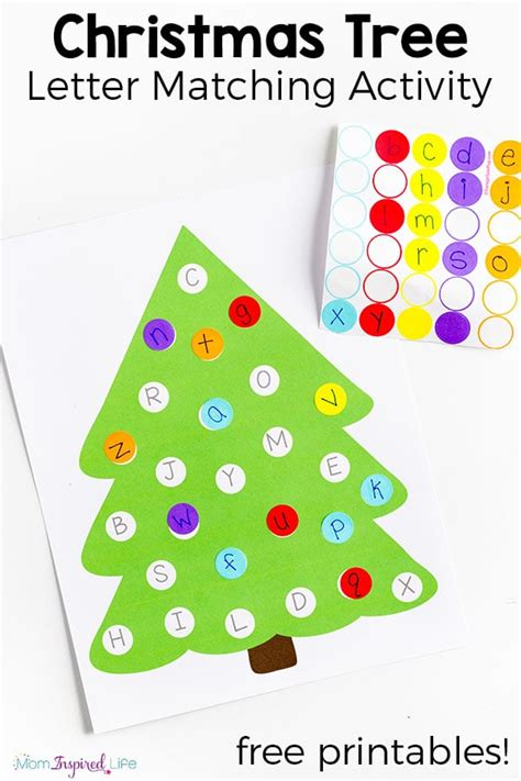 free tree letter matching a to m great winter and christmas tree letter matching activity