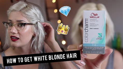 how do you get yellow tint out of gray wiry hair how to get white blonde hair with wella t18 toner btwsam