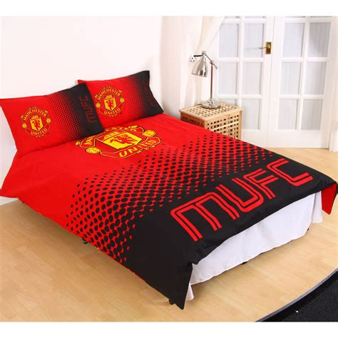 bedroom cover sets manchester united fc single and double duvet cover sets