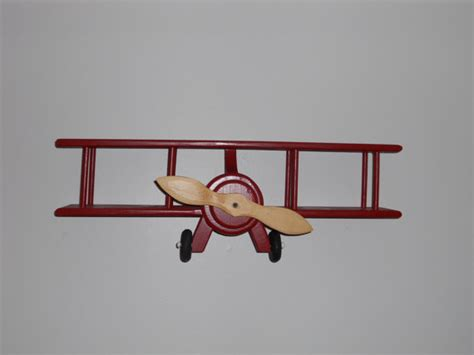 Handmade Wall Hangers - handmade wooden airplane wall hanger by dutchscraftshop on