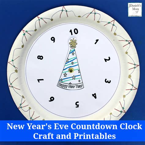 printable new years eve clock new year s eve countdown clock craft and printables