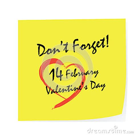 dont forget valentines day day stick stock photography image 36496562