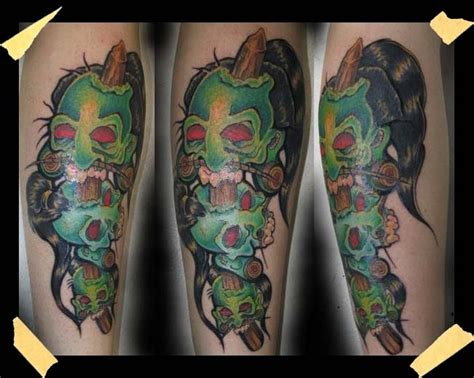 shrunken head tattoo 32 unique shrunken tattoos
