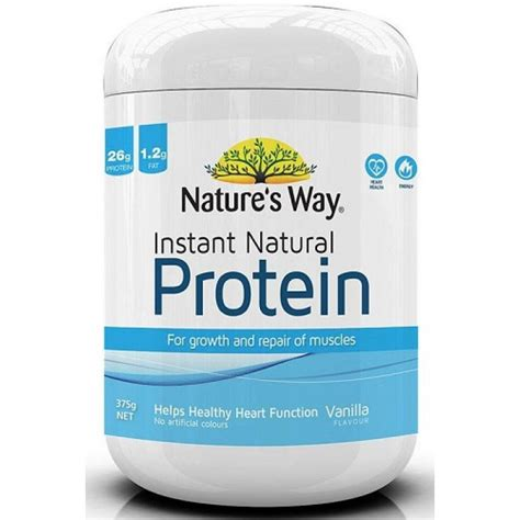 Natures Way Instant Protein Coklat 375g Weight Loss Dan Otot nature s way instant protein vanilla 375g