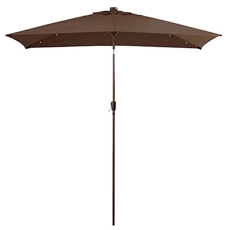 Patio Umbrellas Rectangular 11 Foot Rectangular Solar Aluminum Patio Umbrella Bedbathandbeyond Ca