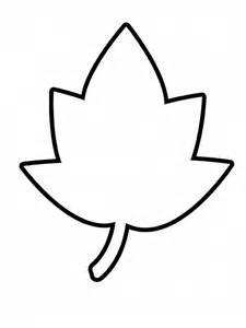 foglia semplicissima da colorare per bambini disegni da