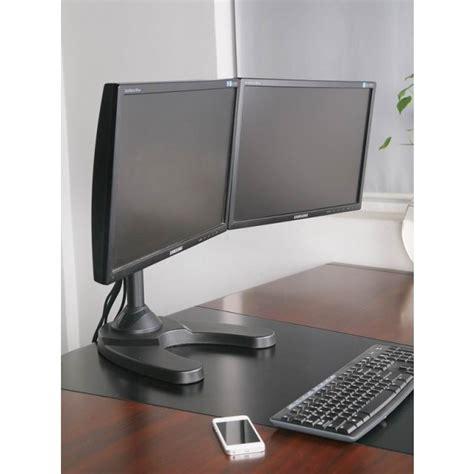 supporto monitor da scrivania supporto da scrivania per 2 monitor 13 24 quot con base