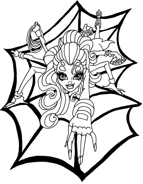 free monster high catty noir coloring pages