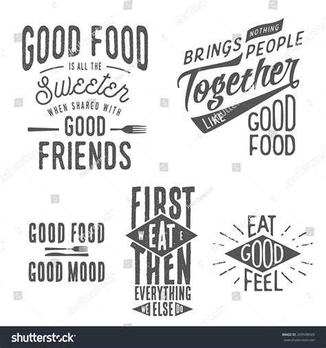 typography quotes vector vintage food related typographic quotes stock vector 269598569