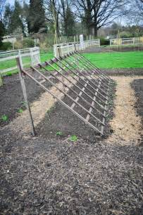 Building A Garden Trellis by Build A Leaning Trellis For Climbers And Shade Loving Lettuces