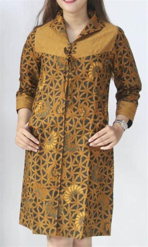 Batik Tunik Parang Sogan jual baju kerja batik tunik sogan semi tulis