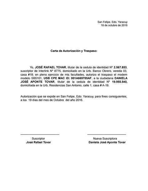 carta de autorizacion acudiente carta de autorizaci 243 n inter by daniela aponte issuu