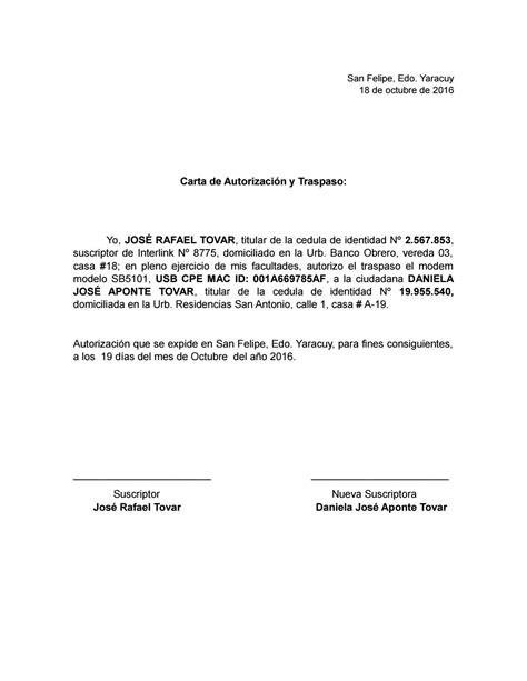 carta de autorizacion mercadopago carta de autorizaci 243 n inter by daniela aponte issuu