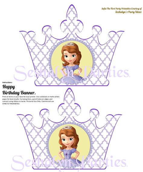 sofia the first happy birthday banner printable 8 best images of sofia the first printables sofia first