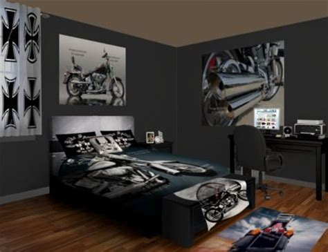 harley davidson bedroom decor choppers and bikes are the highlight of this motorcycle