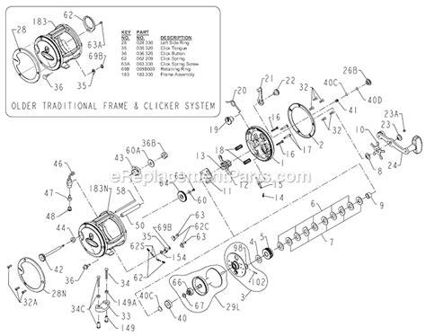 penn reel parts diagram penn 330gti parts list and diagram ereplacementparts