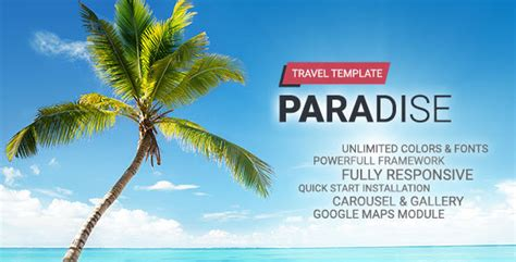 themeforest gift card hot paradise travel joomla template by hot themes