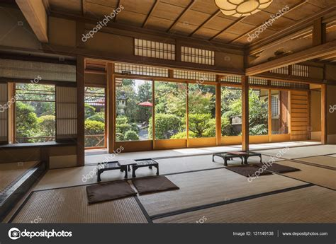 interior japanese house interior of japanese tea house with zen garden kyoto japan stock photo