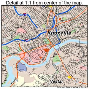 Map Of Knoxville Tennessee knoxville tennessee street map 4740000